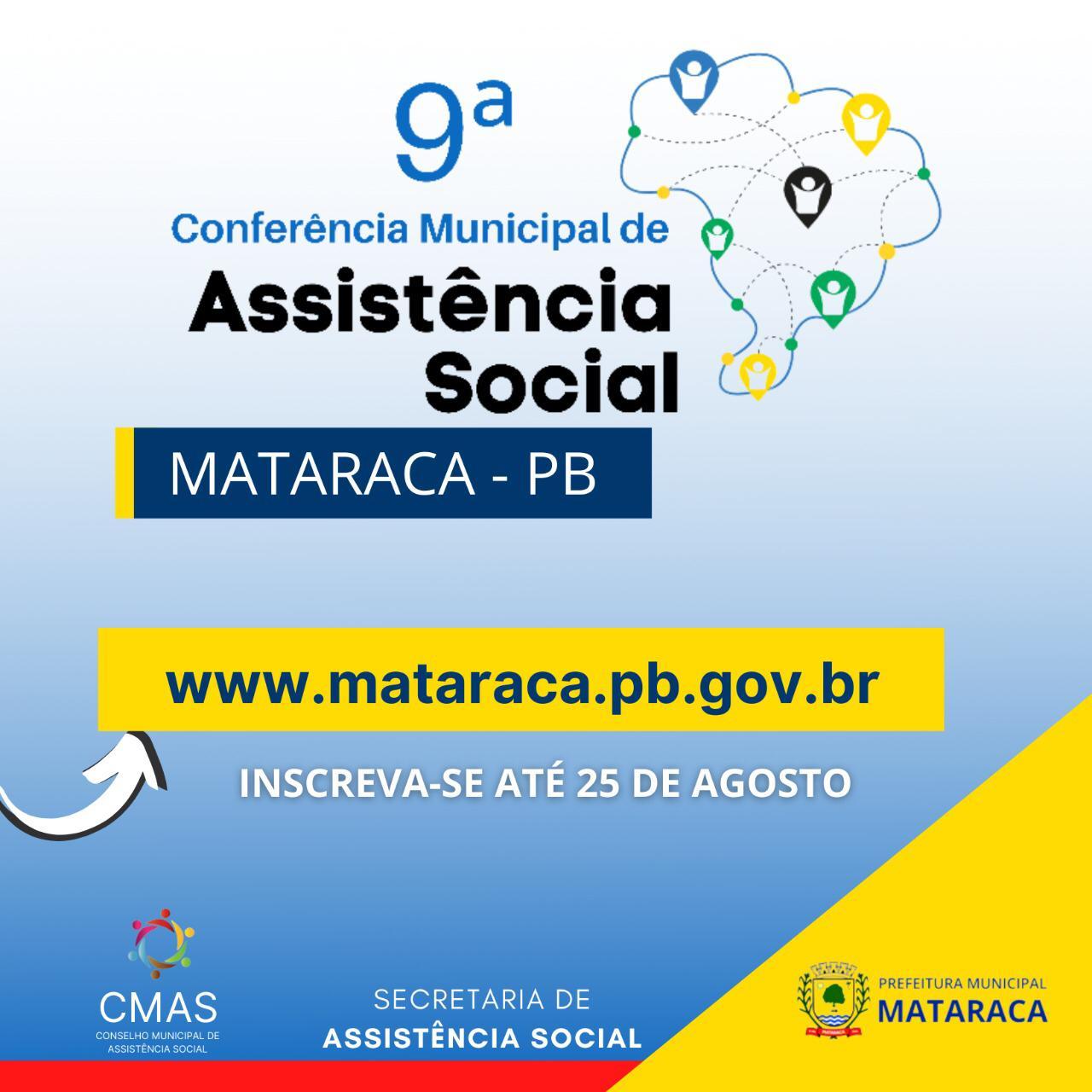 Conferência  Municipal de  de Assistência Social – Mataraca-PB